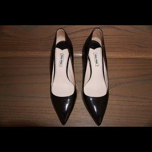 MIU MIU patent leather stilettos with glitter sole